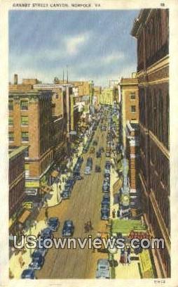 Granby Street Canyon  - Norfolk, Virginia VA Postcard