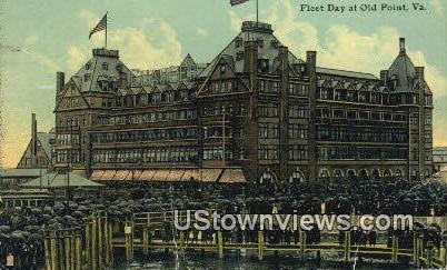 Fleet Day  - Old Point Comfort, Virginia VA Postcard
