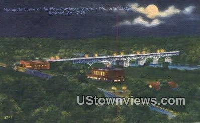 New Southwest Memorial Bridge  - Radford, Virginia VA Postcard