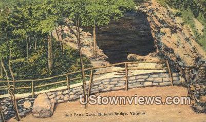 Salt Petre Cave  - Natural Bridge, Virginia VA Postcard