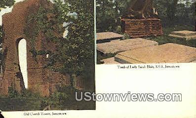 Old Church Tower  - Jamestown, Virginia VA Postcard