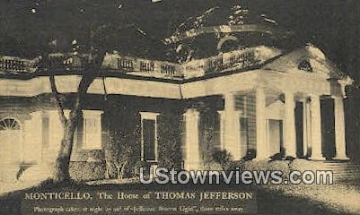 Monticello Home Thomas Jefferson  - Charlottesville, Virginia VA Postcard