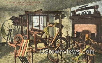 Martha Washingtons Spinning Room  - Mount Vernon, Virginia VA Postcard