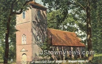 Benns Church Near Smithfield Isle  - Newport News, Virginia VA Postcard