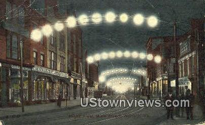 Night View  - Norfolk, Virginia VA Postcard