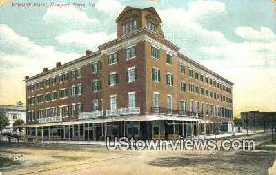 Warwick Hotel  - Newport News, Virginia VA Postcard