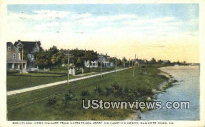 Boulevard - Newport News, Virginia VA Postcard