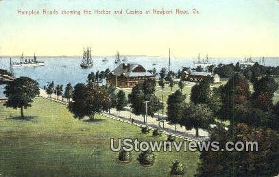 Hampton Roads Showing The Harbor  - Newport News, Virginia VA Postcard