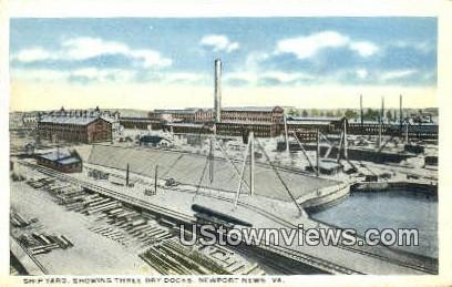 Ship Yard  - Newport News, Virginia VA Postcard