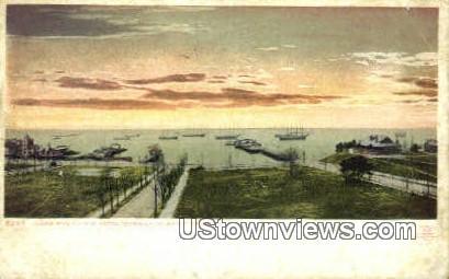 James River From Warwick Hotel  - Newport News, Virginia VA Postcard