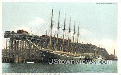 Norfolk And Western Coal Piers  - Virginia VA Postcard