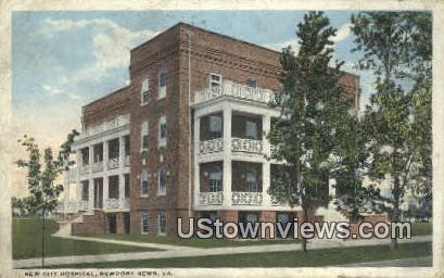 New City Hospital  - Newport News, Virginia VA Postcard
