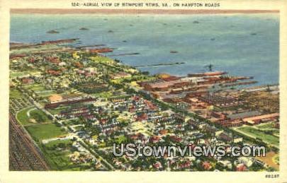 Hampton Roads    - Newport News, Virginia VA Postcard