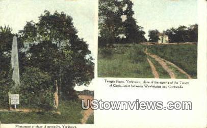 Monument At Place Of Surrender  - Yorktown, Virginia VA Postcard