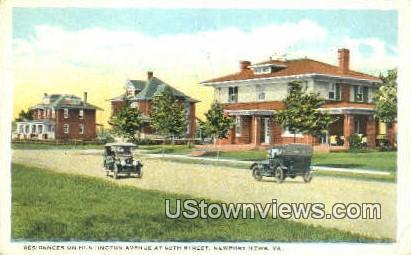 Residences On Huntington Avenue - Newport News, Virginia VA Postcard