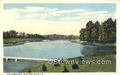City Reservoir  - Newport News, Virginia VA Postcard
