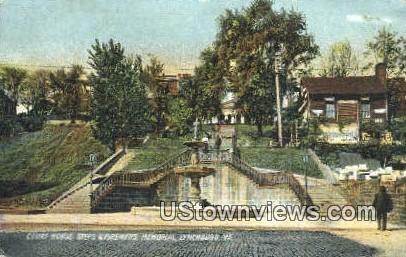 Court House And Steps  - Lynchburg, Virginia VA Postcard