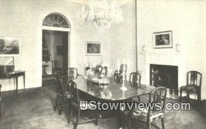 State Dining Room Lee Mansion  - Arlington, Virginia VA Postcard