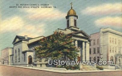 St Peters Catholic Church  - Richmond, Virginia VA Postcard