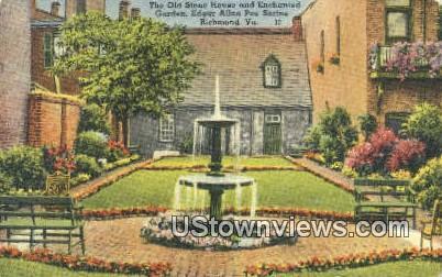 Old Stone House - Richmond, Virginia VA Postcard