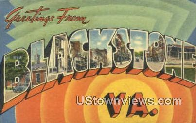 Greetings From  - Blacksburg, Virginia VA Postcard