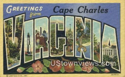 Greetings From - Cape Henry, Virginia VA Postcard