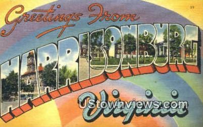 Greetings From  - Harrisonburg, Virginia VA Postcard