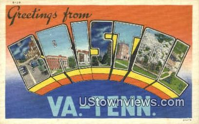Greetings From  - Bristol, Virginia VA Postcard