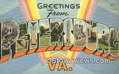 Greetings From  - Petersburg, Virginia VA Postcard