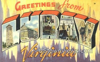 Greetings From  - Luray, Virginia VA Postcard