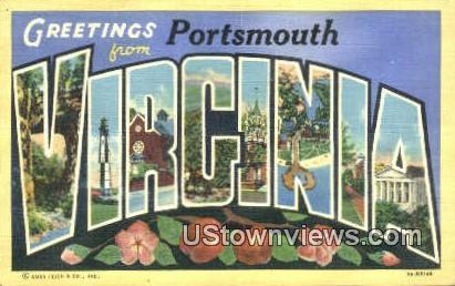 Greetings From  - Portsmouth, Virginia VA Postcard