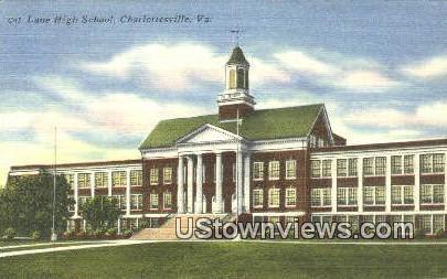 Lane High School  - Charlottesville, Virginia VA Postcard