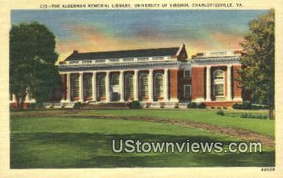 Library University Of Virginia  - Charlottesville Postcard