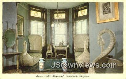 Swan Beds Maymont  - Richmond, Virginia VA Postcard