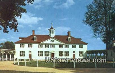 West Front of Mansion  - Mount Vernon, Virginia VA Postcard