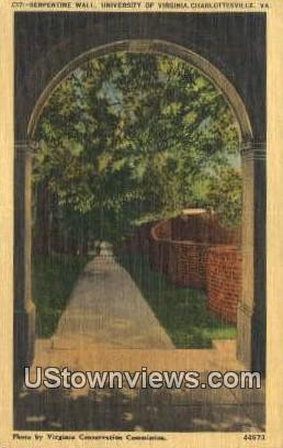 The University Of Virginia  - Charlottesville Postcard