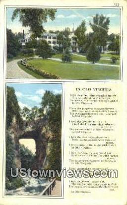 In Old Virginia - Misc Postcard