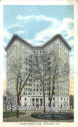 State Office Building  - Richmond, Virginia VA Postcard