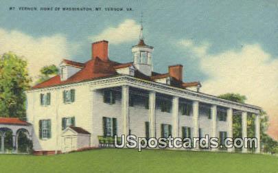 Mt Vernon Home of Washington - Virginia VA Postcard