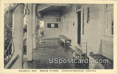 Colonial Bar, Michie Tavern - Charlottesville, Virginia VA Postcard