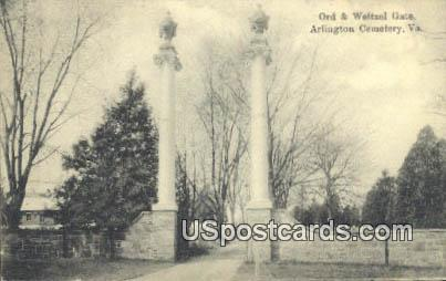 Ord & Weitzel Gate - Arlington Cemetery, Virginia VA Postcard