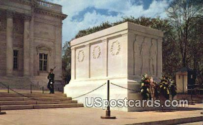 Tomb of the Unknown Soldier - Arlington National Cemetery, Virginia VA Postcard