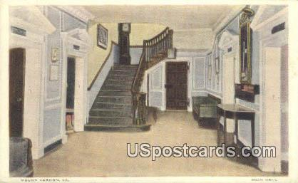 Main Hall - Mt Vernon, Virginia VA Postcard
