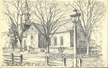 Briton Parish Church - Williamsburg, Virginia VA Postcard