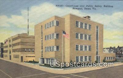 Courthouse & Public Safety Building - Newport News, Virginia VA Postcard