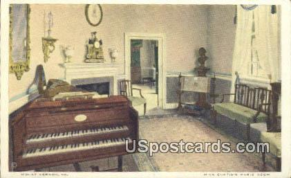 Miss Custis's Music Room - Mt Vernon, Virginia VA Postcard