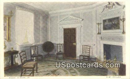 West Parlor - Mt Vernon, Virginia VA Postcard