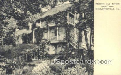 Michie's Old Tavern - Charlottesville, Virginia VA Postcard