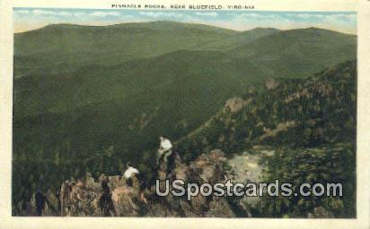 Pinnacle Rocks - Bluefield, Virginia VA Postcard