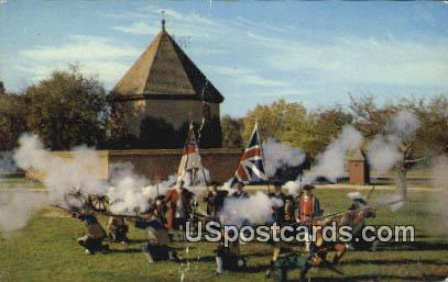 Colonial Williamsburg Militia - Virginia VA Postcard